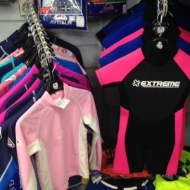 Kids and adults wetsuits and rash shirts