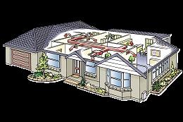 Fujitsu ducted heat pump system