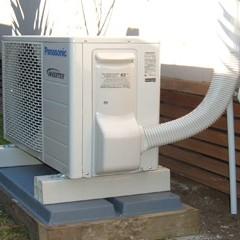 Outside unit of Heatpumps Docktronics Electrical Services