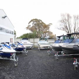 Boats in yard