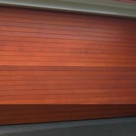 Cedar Sectional Garage Door by Doors 2000 Coromandel