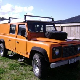 Electricians Orange truck