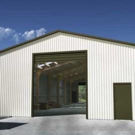 Large cream shed