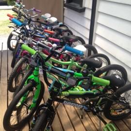 Kids bike range at the Bike Man Shop Whitianga
