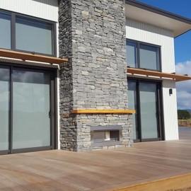 Stone Chimney and outdoor shoe fireplace Mark Urlich Garden Landscaping & Stonemasons