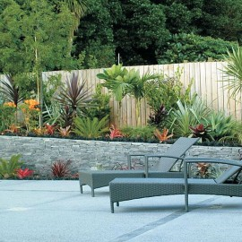 Outdoor loungers and garden