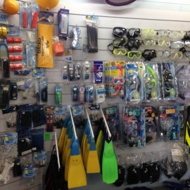 Snorkeling and diving gear