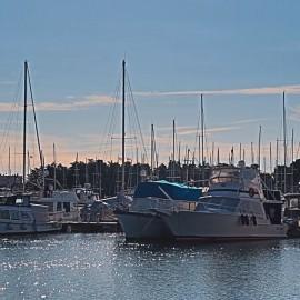 Boats and yachts at marina