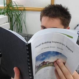 Man reading report