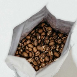Coffee in white bag