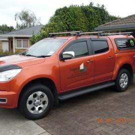 Bronze red ute vehicle