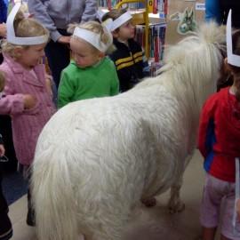 Toddler time horsing around at Mercury Bay Library Whitianga