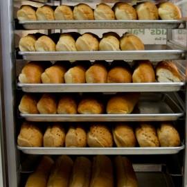 Bread on racks
