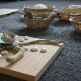 Shell and sticks