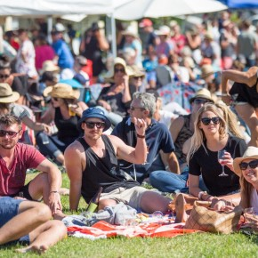Fun crowd at A Taste of Matarangi Food and Wine Festival