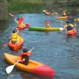 Children in kayaks