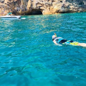 Person snorkelling