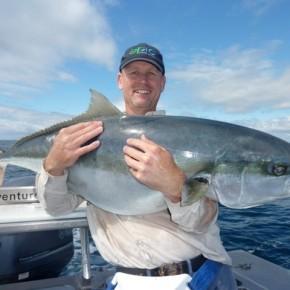 Man with kingfish