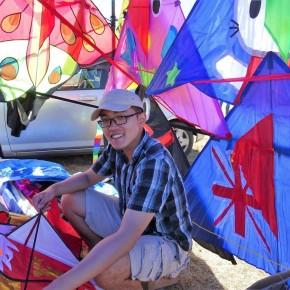 Man with kite
