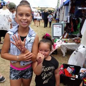 Children showing hands