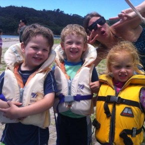 children in lifejackets