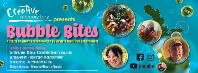 Bubble Bites Showcasing our Creative Mercury Bay Artists