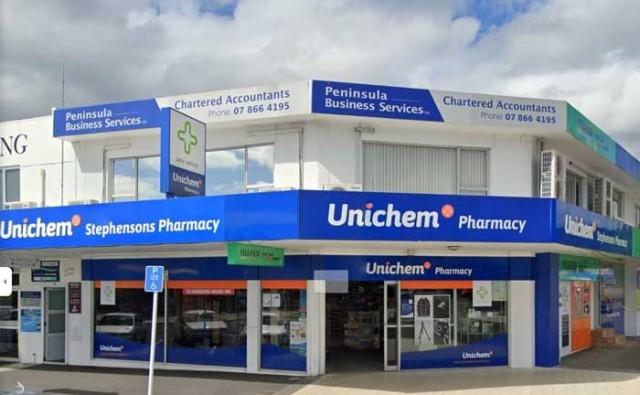 Outside of pharmacy