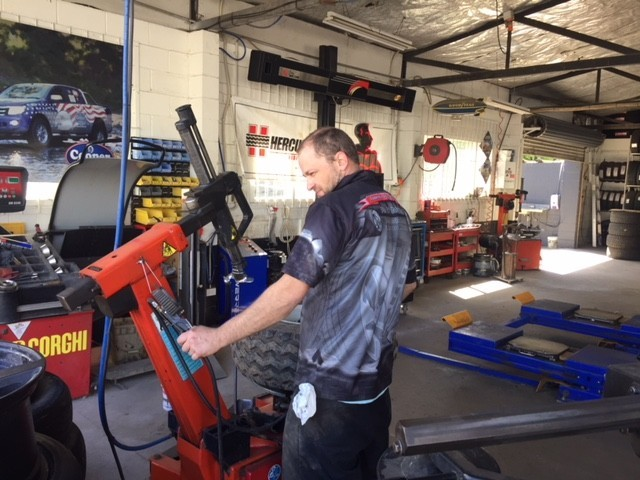 Tyre technician- checking tyres Whitianga