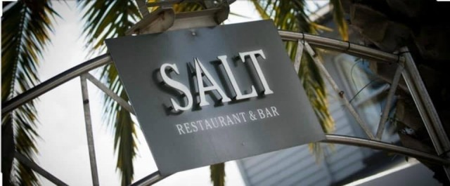 Salt Restaurant and Bar sign