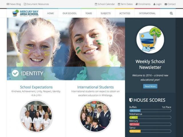 New website for Mercury Bay Area School