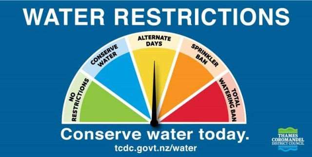 Water restrictions ease across the Coromandel