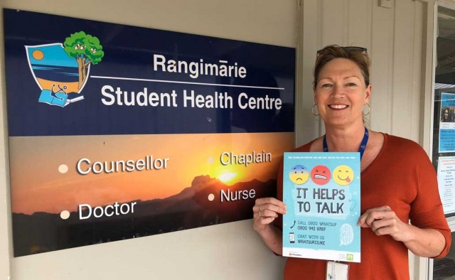 Mercury Bay Area School links with child helpline in promoting greater access to wellbeing support