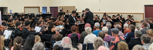 Auckland Youth Orchestra performed to a full house in Whitianga