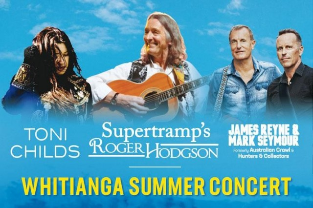 Whitianga Summer Concert 2019 Artists Announced!