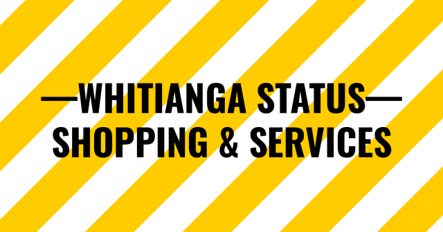 Services available in Whitianga during lockdown made easy to find
