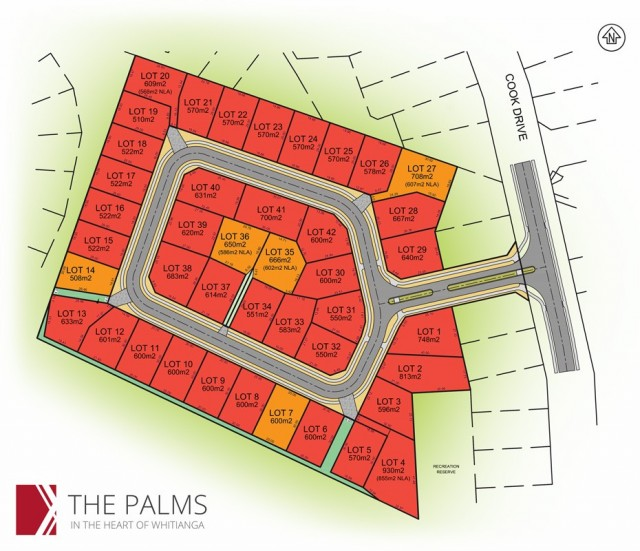 The Palms Whitianga Sections For Sale