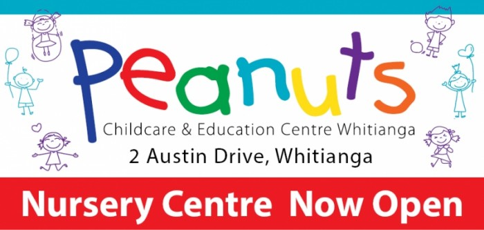 Peanuts Childcare and Education Centre new Nursery Centre opened in Whitianga August 2016