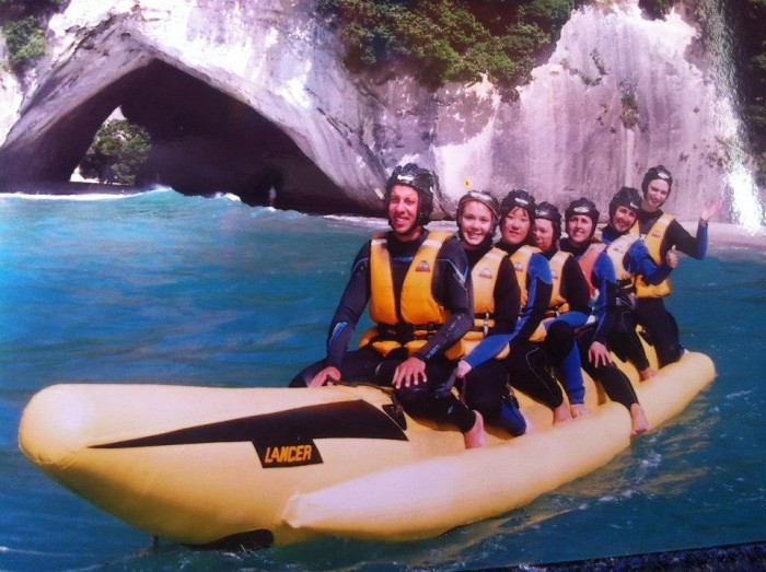 Cathedral Cove banana boat
