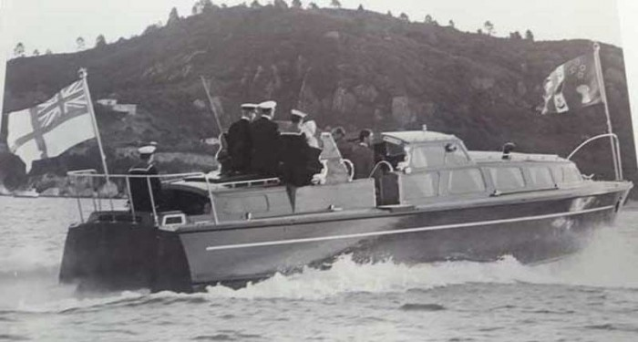 Royal boat on the Water at Mercury Bay near Whitianga
