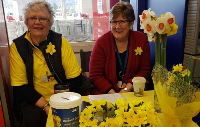 Volunteers in Whitianga selling daffodils for charity appeal
