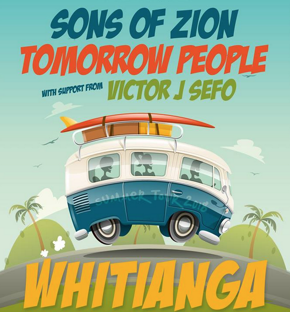 Sons of Zion, tomorrow People playing at The Whitianga Hotel