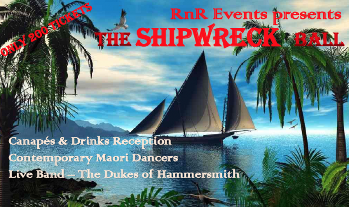 Whitianga Shipwreck Ball HMS Buffalo Homecoming Week Whitianga 2015