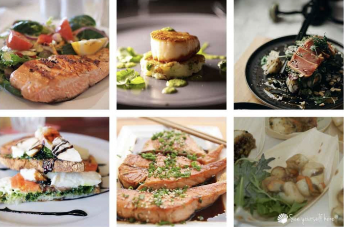 fish and scallop seafood dishes
