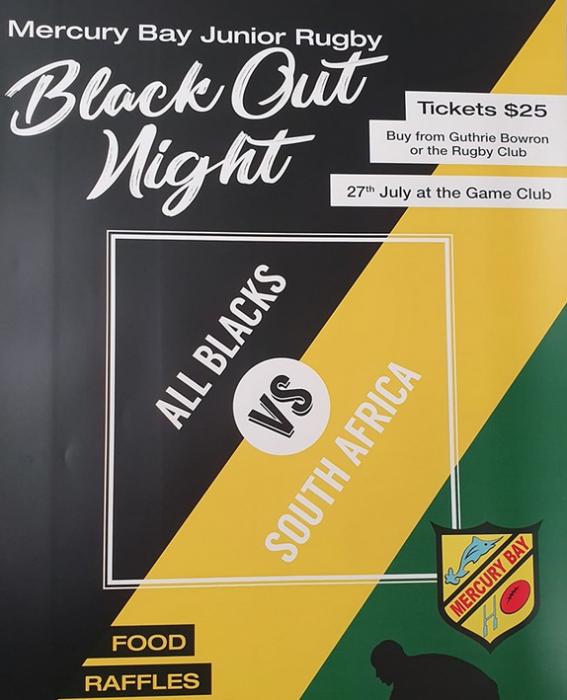 Mercury Bay Junio0r Rugby Black Out Night