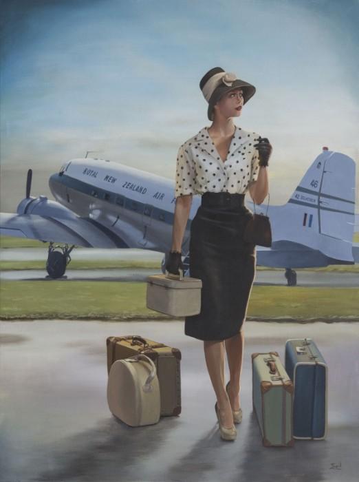 Ingrid Boot DC3 painting