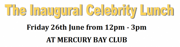 Inaugural Celebrity Lunch at The Mercury Bay Club