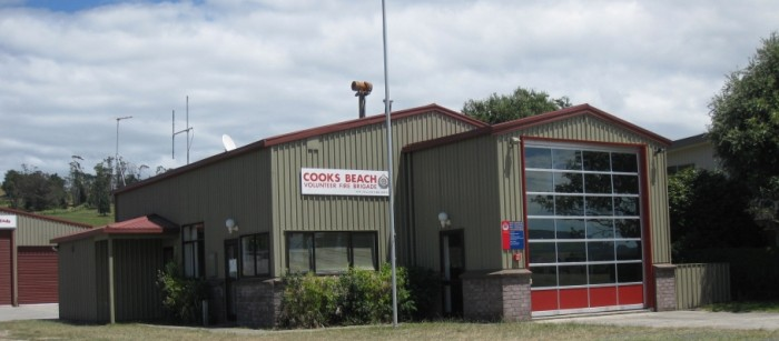 Front View of Cooks Beach Volunteer Fire Brigade near Whitianga