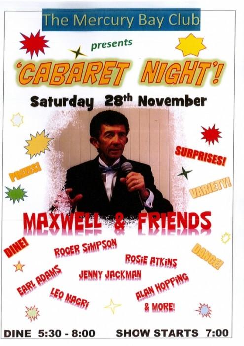 cabaret Night at Mercury Bay Club
