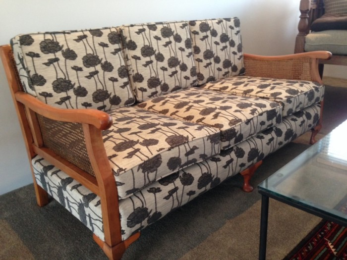 Re upholstered couch by Mercury Bay Canvas Whitianga