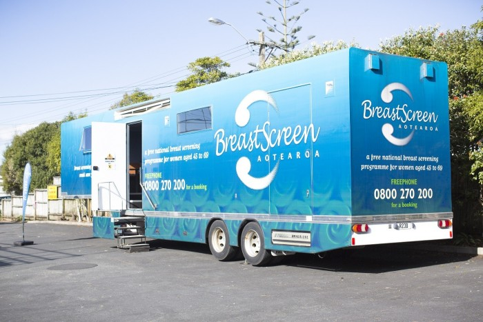 Mobile Breastscreen Clinic Whitianga visits